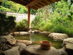 Loved the private Onsen in our wonderful Ryokan in Hakone. Similar to this picture.