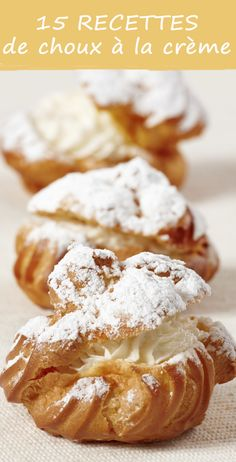 easy desserts recipes- cookie topped cream puffs profiteroles choux cream puffs for-my-sweet-tooth Just Desserts, Delicious Desserts, Dessert Recipes, Yummy Food, Snack Recipes, Choux Cream, The Joy Of Baking, Snacks, Eclairs