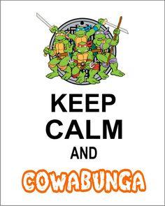 8X10 Keep Calm Teenage Mutant Ninja Turtle Wall Art on Etsy, $10.00