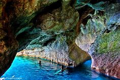 12 Images of Greece's More Breathtaking Caves You Can Swim In! | Bluetravelstories.com