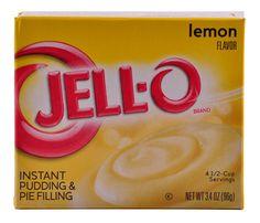 The Great American Cake -Jell-o Lemon Pudding - JELL-O Preparado Instantâneo de Pudim de Limão, não vai ao lume.