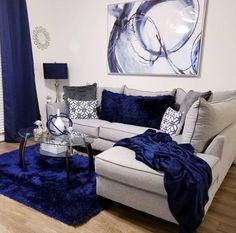 49 Amazing Modern Apartment Living Room Design Ideas - Living Room - Home Decor Blue Living Room Decor, Home Living Room, Apartment Living, Living Room Designs, Apartment Design, Studio Apartment, Apartment Ideas, Apartment Furniture, Girl Apartment Decor