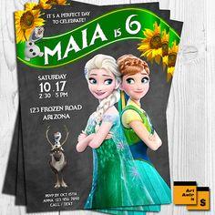 Frozen invitation frozen birthday frozen anna olaf by ArtAmoris