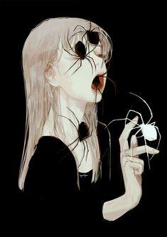 dark art Por muy loco que parezca, siento que - art Art Inspo, Inspiration Art, Dark Fantasy Art, Arte Horror, Horror Art, Art Sinistre, Bel Art, Art Noir, Art Du Croquis