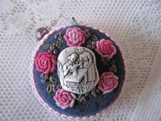 Retractable Tape Measure  Hand embroidered by mariadownunder, $27.00