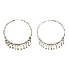 CHAND BALI FRINGE STERLING SILVER HOOP EARRING. Inspired by ancient Batak Karo Tribal decorative wirework earrings. www.cynthiagale.com.