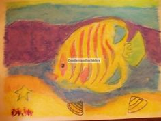 Fish Sand Painting . Done by a Grade I student. https://www.facebook.com/DoodlersAndScribblers
