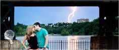 summer storm engagement photography ideas - lightning - picnic engagement, river engagement with sweet Cheerwine, colorful floats. Playful e-session in the James River. football engagement session- Virginia wedding and engagement photographer Lauren D. Rogers Photography | www.laurendrogers.com