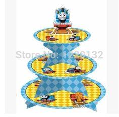 1 комплект комикс томас контейнер двигатель день рождения младенцы душ ну вечеринку картон кекс стойка держать 24 кексы купить на AliExpress