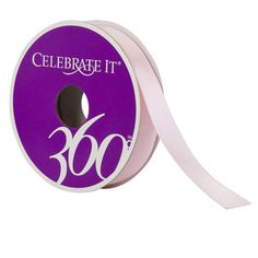 """Celebrate It® 360°™ Satin Ribbon, 5/8""""Celebrate It 360 Satin Ribbon, 5/8in, Light Pink"""