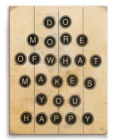 Take a look at this 'What Makes You Happy' Wall Art on zulily today!