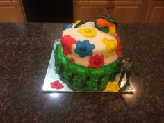 Paintball cake for my step son I made