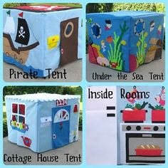 So many different possibilities. I love the pirate tent. I have also seen gingerbread houses, gardens, and club houses. A bakery would also be cute.