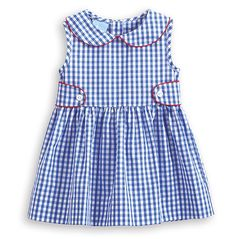 bella bliss - Dalton Dress in Blue Soft Check, SIZE 3