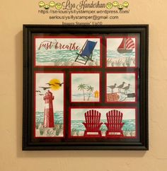 Summer Sampler - Summer Sampler – Seriously Silly Stamper Informations About Summer Sampler Pin You can easily use - Shadow Box Art, Shadow Box Frames, Box Frame Art, Paper Art, Paper Crafts, Boxes And Bows, Collage Frames, Collages, Collage Ideas