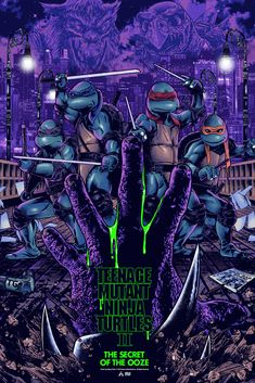 Anthony Petrie - TMNT 2: The Secret of the Ooze Poster Teenage Ninja Turtles, Ninja Turtles Art, Movie Poster Art, Poster On, Tmnt Wallpaper, Iphone Wallpaper, Pop Culture Art, The Exorcist, Alternative Movie Posters