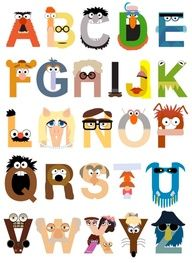 Muppet alphabet. for banners?  awesome!!