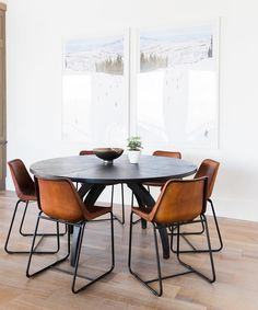"""Studio McGee on Instagram: """"What's better than 1 @graymalin photograph? 2 side by side! Those @cb2 leather chairs aren't too shabby either. : @travisj_photo"""""""