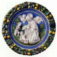 Andrea e Giovanni della Robbia, Adorazione del Bambino con San Giovannino, 1500 ca. Firenze, Bargello