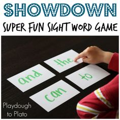 - Playdough To Plato - Vocabulary and Spelling - Simple prep, super fun sight word game. This was my students& favorite sight word games of all - Teaching Sight Words, Sight Word Practice, Sight Word Activities, Kindergarten Reading, Teaching Reading, Guided Reading, Kindergarten Sight Word Games, Homeschool Kindergarten, Teaching Tips