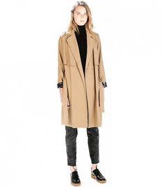 Zara Flowy Trench Coat. // #Shopping