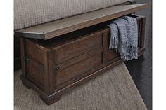 Medium Brown Zenfield Bedroom Bench View 1