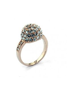 Concise New Arrival Alloy Rhinestone Ring