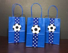 Soccer Inspired Favor Bags!!!    For sports lovers events... This listing is for 12 bags, 6 of each color.    if you want more than 12 bags or a specific color please send me a message.