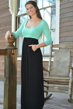 FREE FALLIN Mint Black Maxi Dress Shop Simply Me Boutique Shop Simply Me SMB – www.SHOPSIMPLYME.com