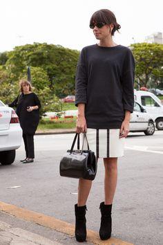 Street style SPFW Dia 4 - black & white