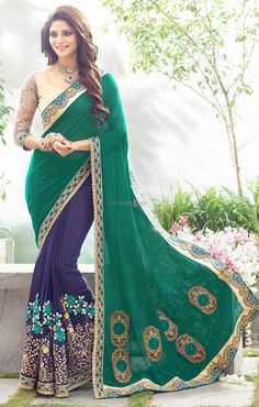 Buy traditional half saree jacket style looking full sleeve blouse designs Latest Indian Saree, Indian Sarees Online, Latest Sarees, Full Sleeves Blouse Designs, Saree Blouse Designs, Indian Wedding Outfits, Indian Outfits, Indian Weddings, Indian Dresses