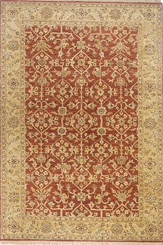 """Palace Area Rug (Rust) - 9'6"""" x 13'6"""" : $5,985.00. Available online at www.TheLookInteriorsNH.com"""