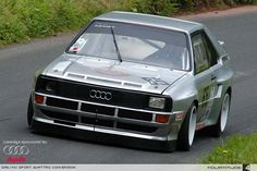 To an Audiphile, there is little in the automotive vernacular that strikes such a universal chord as the name Sport quattro. It's a pride thing, mostly, as My Dream Car, Dream Cars, Audi Gt, Audi Motorsport, Audi Sport, Tuner Cars, Top Cars, Car Wheels, Modified Cars