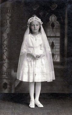 Vintage Postcard ~ First Communion
