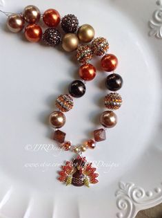 Ready to ship Turkey Necklace-Thanksgiving necklace by JJRDesigns