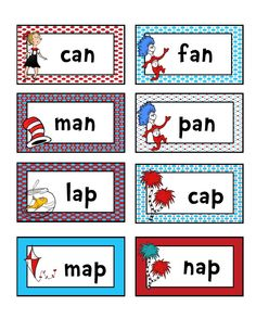 Preschool Printables: Rhyming and matching, reading game.