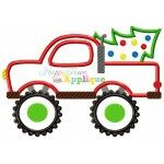 Monster Truck With Tree Appliqué Design