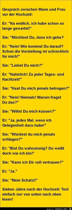 funny picture & # conversation between man and woman.jpg & # from Edith…. funny picture & # conversation between man and woman.jpg & # from Edith. One of … – Lustige Bilder – Continue Reading → Funny Texts, Funny Jokes, Hilarious, Humor Texts, Really Funny, Funny Cute, Blonde Jokes, College Humor, Good Jokes