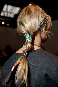New York ? Elizabeth Lippman 02-15-12 for NY MAgazine Beauty at Fashion Week vogue's Elisabeth von Thurn und Taxis is with scarf braided into her hair