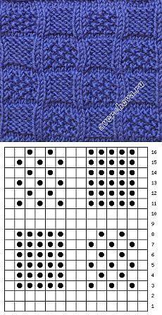 красивый рельефный узор   каталог вязаных спицами узоров