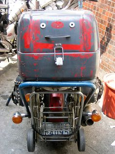 Moped Face, via Flickr.