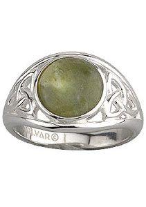 Round Connemara Ring with Trinity Knots SS