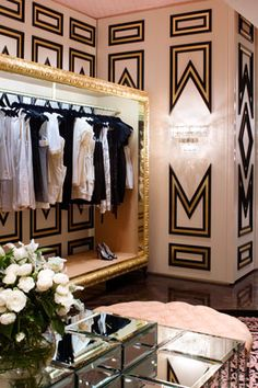 Designing a dressing room can be as demanding as any room. You have to choose a color scheme, decorating style, furnishings. So let's talk about decorating a dressing room in various styles. To choose the right style for your dressing… Continue Reading → Walk In Wardrobe, Wardrobe Ideas, Dream Closets, Plywood Furniture, Gold Furniture, Deco Furniture, Furniture Design, Home Living, My New Room