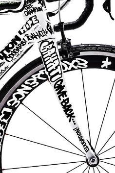 ♂ Go green. RIde a bike. black & white bicycle