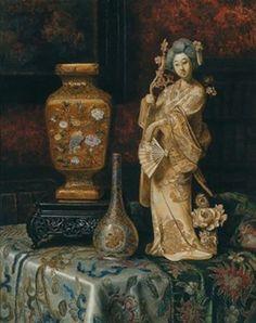 Max Schödl Still Life with Asian, 1898