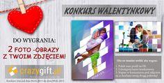 CrazyGift.pl zachęca wszystkich do udziału w konkursie, w którym do wygrania są dwa  foto-obrazy na płótnie! Wszystkie szczegóły znajdziecie na naszym fanpage -> http://on.fb.me/16ggjj3