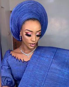 Yoruba Wedding, Nigerian Lace, Instagram Makeup, African Lace, Aso, Ankara Styles, Eccentric, Turban, Beads