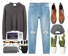 """""""Caggie"""" by sulk-y ❤ liked on Polyvore featuring Monki, 3.1 Phillip Lim, FOSSIL, François Pinton, Crate and Barrel, Pelle and Illamasqua"""