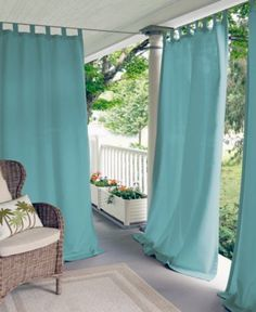 "Elrene Matine Solid Indoor/Outdoor 52"" x 95"" Panel - Window Treatments - For The Home - Macy's"