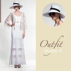 El perfecto complemento para tu outfit #StudioF es un sombrero blanco en un día soleado. Todo el look disponible en nuestras tiendas.